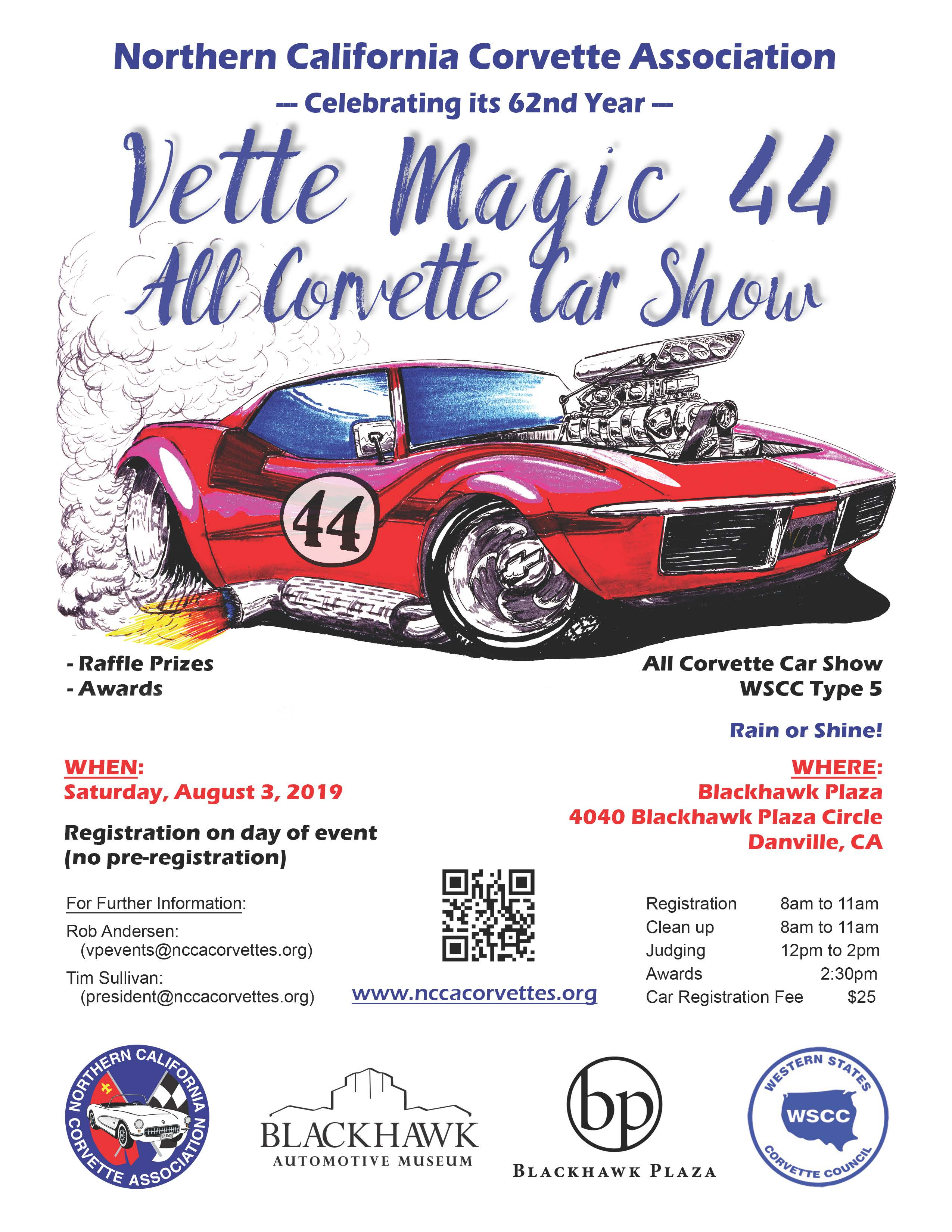 VetteMagic 44 Car Show Type V – Western States Corvette Council